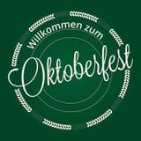 Oktoberfest lettering Stock Photo