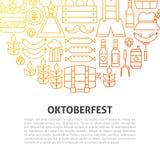 Oktoberfest linje begrepp Arkivfoton