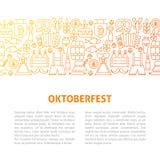Oktoberfest linje designmall Royaltyfria Foton