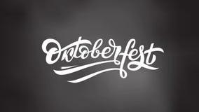 Oktoberfest loga animacja Piwna festiwalu ruchu grafika Materiał filmowy Bawarski festiwalu projekt na szarym tle z zbiory wideo