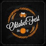 Oktoberfest logo on chalk design background Royalty Free Stock Photo