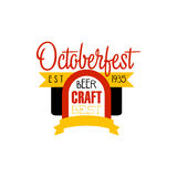 Oktoberfest Logo Design Template Royalty Free Stock Images