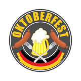 Oktoberfest logo - Traditional annual  Beer Festival in Germany. Stock Photos