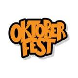 Oktoberfest logotyp Oktoberfest świętowania projekt na textured tle Szczęśliwa Oktoberfest literowania typografia Ręka kreśląca Fotografia Stock