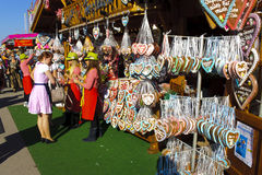 Oktoberfest in München Stock Foto's