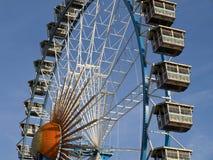 Oktoberfest München, het grote wiel stock afbeelding