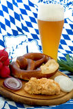 Oktoberfest Mahlzeit Lizenzfreie Stockfotos