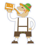 Oktoberfest man with glasses of beer.Vector german Stock Photography