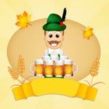 Oktoberfest man Stock Image