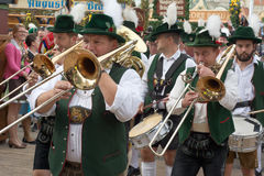 Oktoberfest Marching Band with Horns Royalty Free Stock Photo