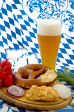 Oktoberfest Meal Royalty Free Stock Photography