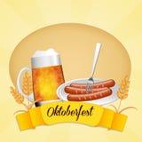 Oktoberfest menu Royalty Free Stock Images