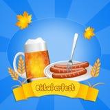 Oktoberfest menu Royalty Free Stock Photos