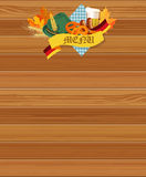 Oktoberfest menu. Stock Image