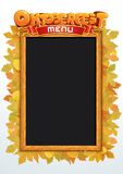 Oktoberfest Menu Vector. Template for Your Text Royalty Free Stock Photography