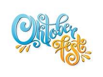 Oktoberfest met de hand geschreven van letters voorziende kopbal De titel vectorontwerp van de Oktoberfesttypografie royalty-vrije illustratie