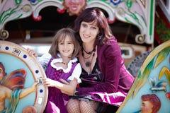 Oktoberfest mit Mutter Lizenzfreie Stockfotografie