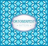 Oktoberfest modell, bakgrundstextur och emblem Vektor Illustrationer