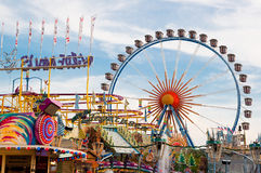 Oktoberfest Munich. Oktoberfest 2012 in Munich, Germany - the big Ferris wheel and other festival attractions Stock Images
