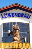 Oktoberfest Munich. Lowenbrau beer tent at Oktoberfest Munich Stock Photography