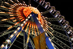 Oktoberfest Munich vid natt Royaltyfri Fotografi