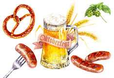 Oktoberfest napoju karmowy set royalty ilustracja