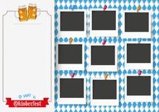 Oktoberfest Nine Pics Beer Ribbon Royalty Free Stock Image