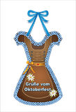 Oktoberfest, October party gingerbread Dirndls from gingerbread with heart and edelweiss, October party card Greetings from Octobe Royalty Free Stock Photography