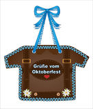 Oktoberfest, October party gingerbread Shirt from gingerbread with heart and edelweiss, October party card Greetings from October Stock Photo