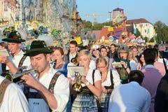 Oktoberfest orkiestra marsszowa Zdjęcie Royalty Free