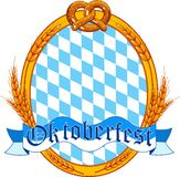 Oktoberfest  oval  label design Stock Photo