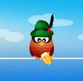 Oktoberfest owl Stock Image
