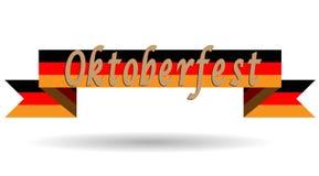 Oktoberfest på Tysklandflaggan, plan vektorillustration, broschyr, baner, logofestival vektor illustrationer