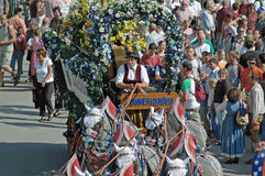 Oktoberfest parade in munich Royalty Free Stock Images