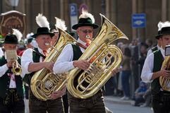Oktoberfest parade in munich Stock Photos