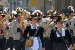 Oktoberfest parade in munich Stock Photo