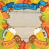 Oktoberfest Party-Feld-Einladungs-Plakat Lizenzfreie Stockbilder
