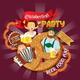 Oktoberfest party flyer Stock Photo