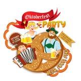 Oktoberfest party flyer Stock Image