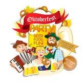 Oktoberfest party flyer Stock Images