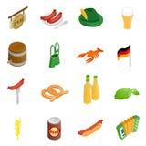 Oktoberfest party isometric 3d icons Stock Photo