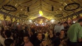 Oktoberfest pavillion stock footage