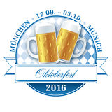 Oktoberfest pictogram 2016. Oktoberfest munich beer festival vector pictogram royalty free illustration