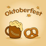 Oktoberfest piwa festiwal Plakat dla uczta wektoru ilustracja wektor
