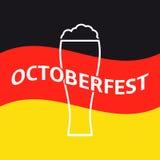 Oktoberfest Plakat stock abbildung