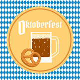 Oktoberfest poster with beer Stock Photos
