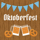 Oktoberfest poster with bunting Royalty Free Stock Images