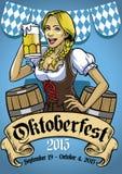 Oktoberfest poster event Stock Photos