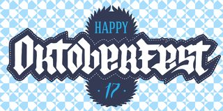 Oktoberfest - poster or flyer template with seamless pattern. Ve Stock Photography