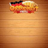 Oktoberfest Poster or Menu Template. Vector Image Stock Images